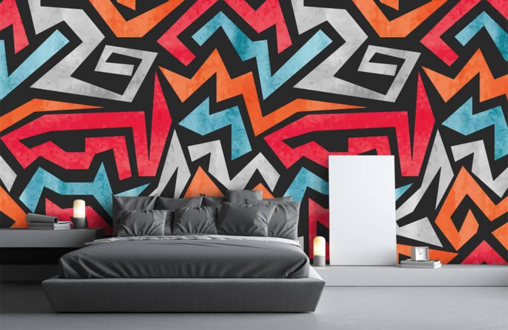 Graffiti - Impression graphique en couleur - Chambre d'adolescent 3
