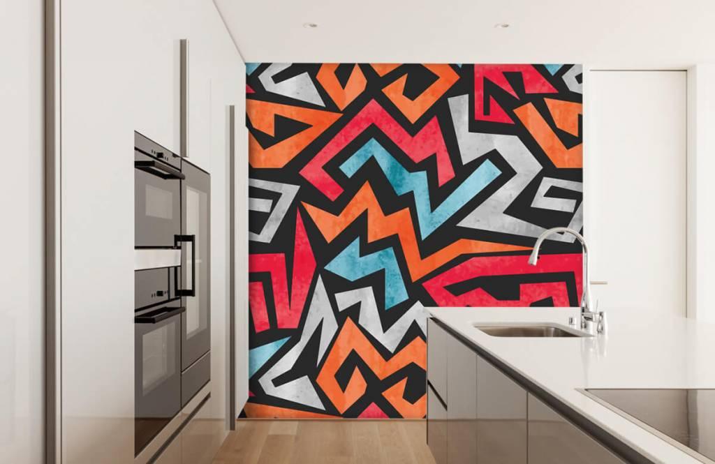 Graffiti - Impression graphique en couleur - Chambre d'adolescent 4