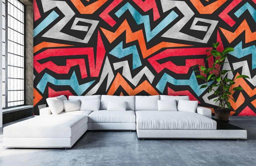 Graffiti - Impression graphique en couleur - Chambre d'adolescent 5