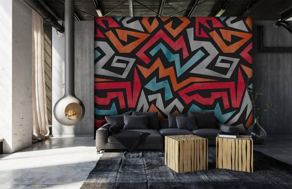 Graffiti - Impression graphique en couleur - Chambre d'adolescent 6