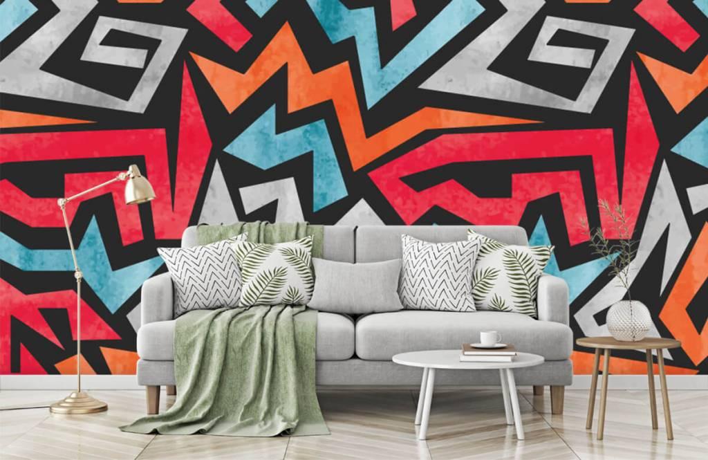 Graffiti - Impression graphique en couleur - Chambre d'adolescent 7