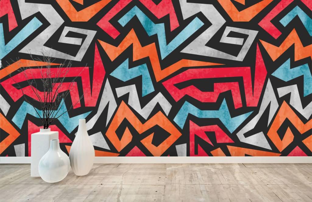 Graffiti - Impression graphique en couleur - Chambre d'adolescent 8