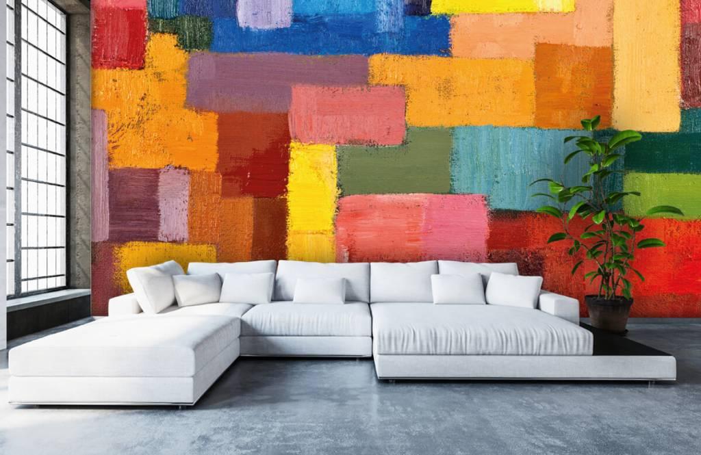 Fond d'écran abstrait - Répartition des surfaces colorées - Salle de séjour 1