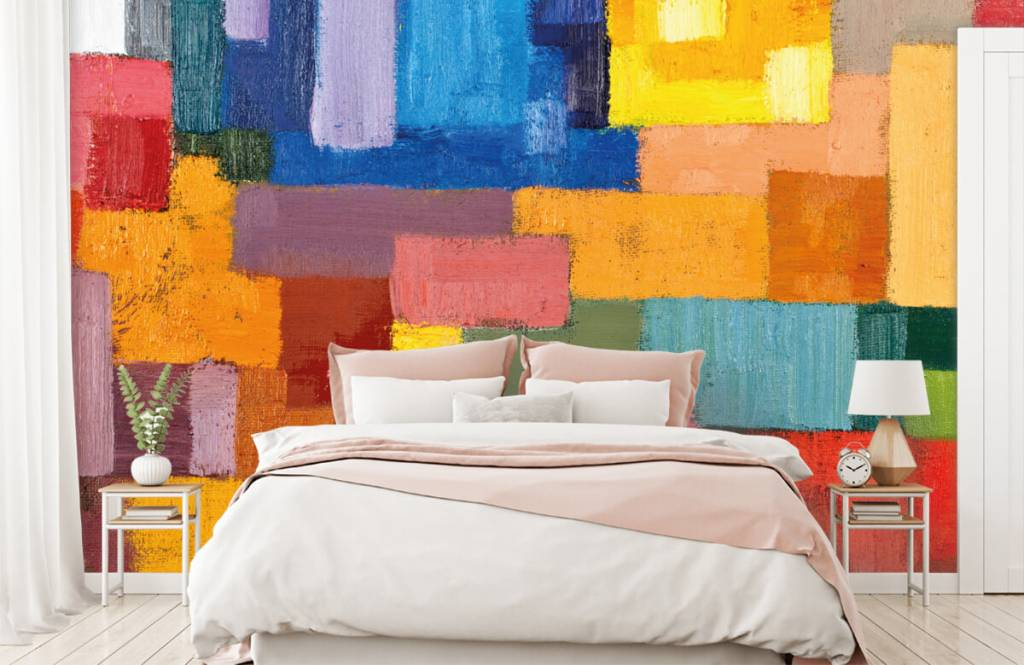 Fond d'écran abstrait - Répartition des surfaces colorées - Salle de séjour 2