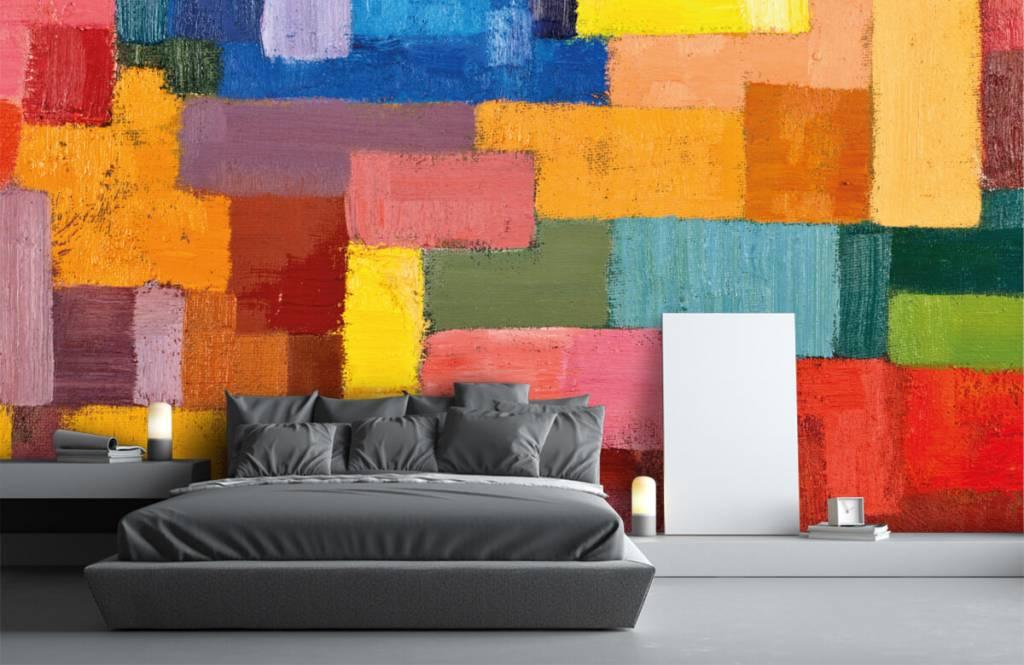 Fond d'écran abstrait - Répartition des surfaces colorées - Salle de séjour 3