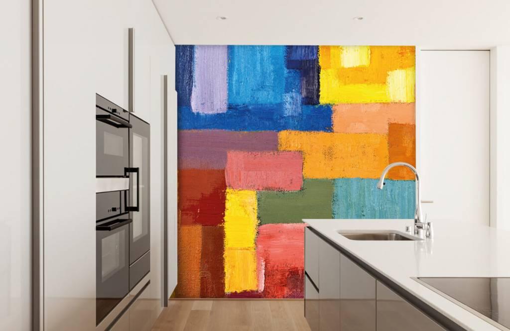 Fond d'écran abstrait - Répartition des surfaces colorées - Salle de séjour 4