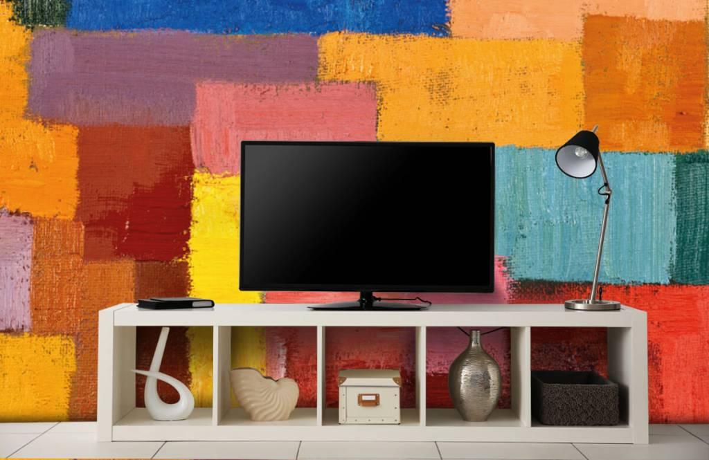 Fond d'écran abstrait - Répartition des surfaces colorées - Salle de séjour 5