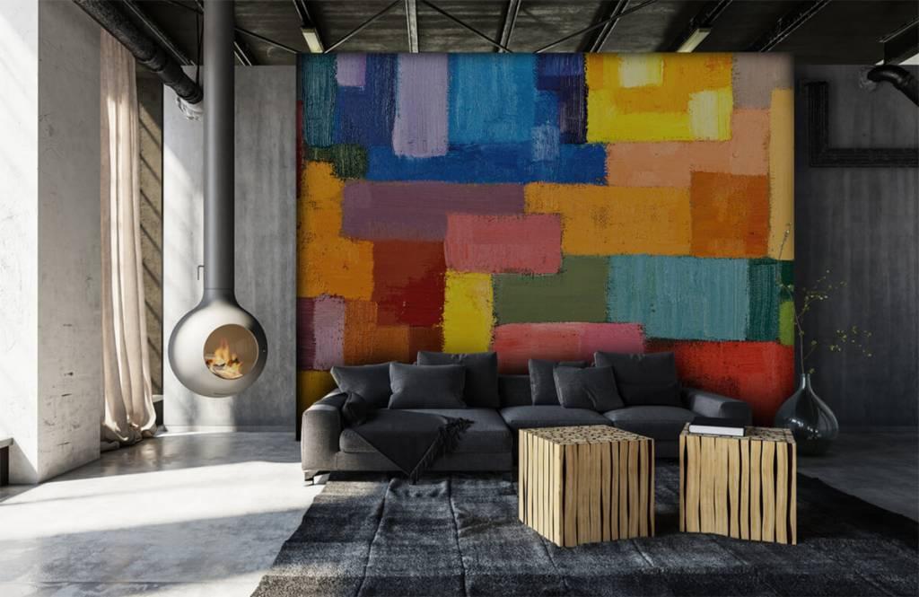 Fond d'écran abstrait - Répartition des surfaces colorées - Salle de séjour 6