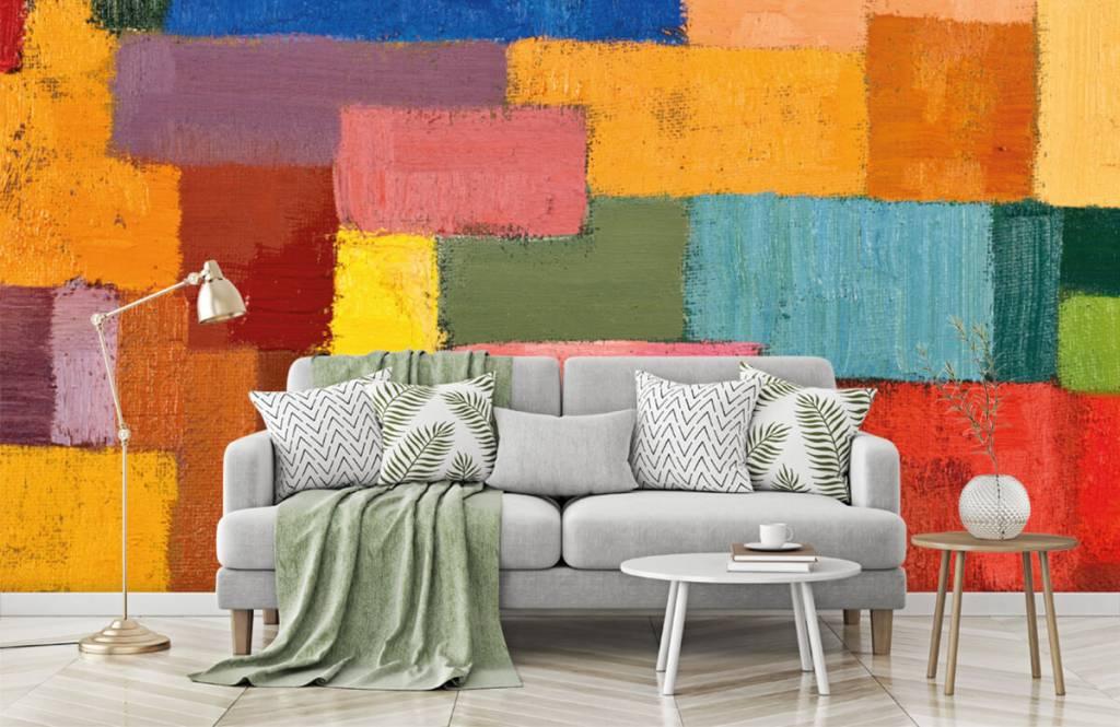 Fond d'écran abstrait - Répartition des surfaces colorées - Salle de séjour 7