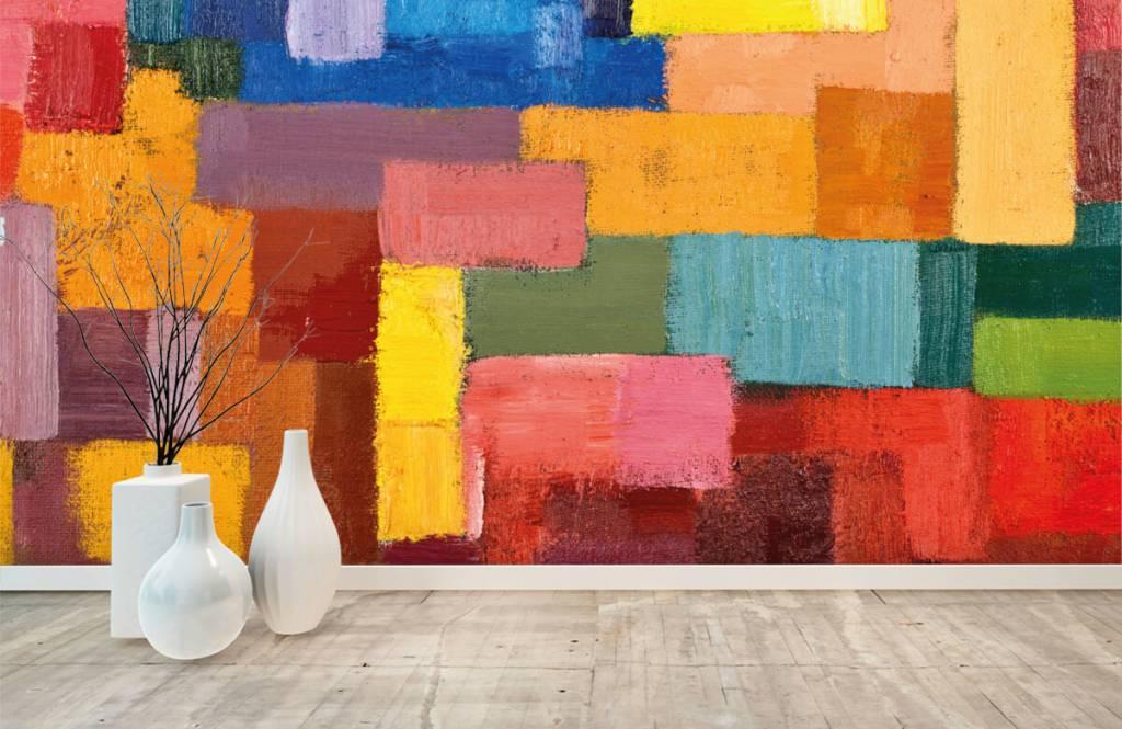 Fond d'écran abstrait - Répartition des surfaces colorées - Salle de séjour 8