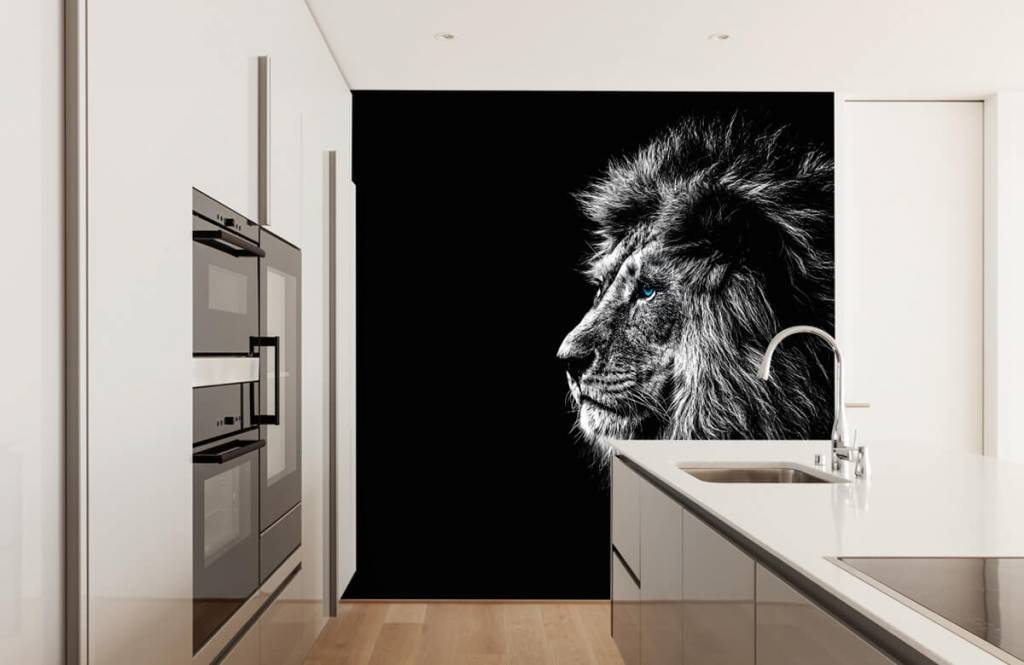 Safari Animals - Lion aux yeux bleus - Chambre d'adolescent 4