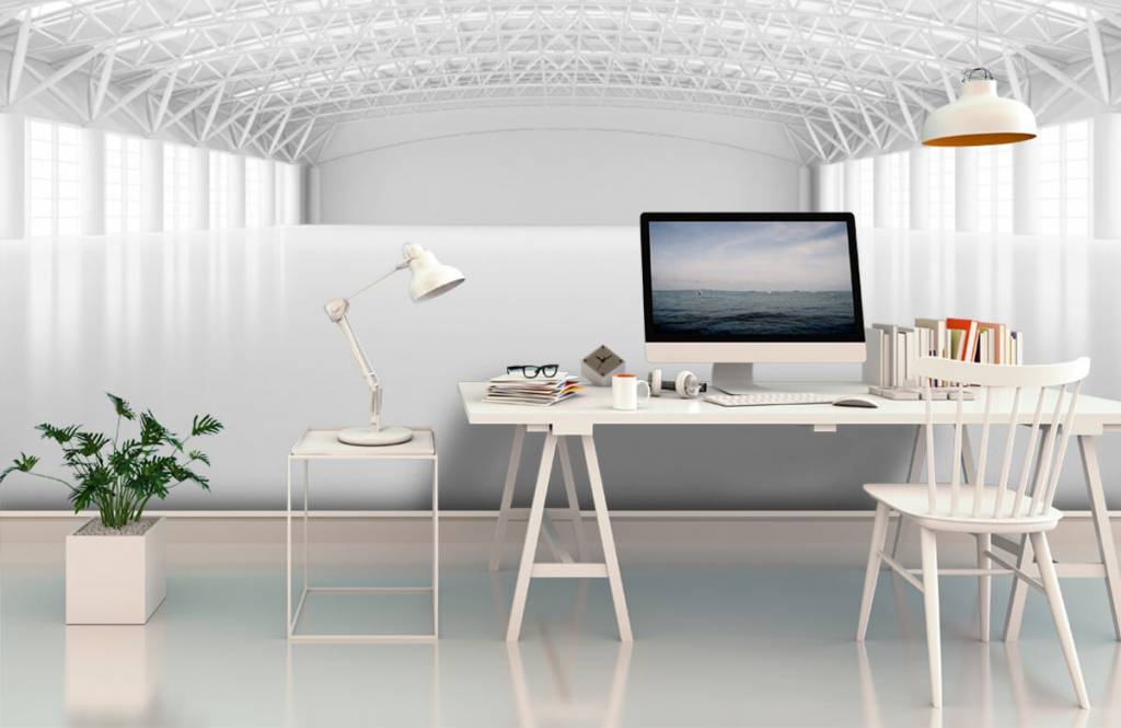 Buildings - Entrepôt blanc vide - Gérant 2