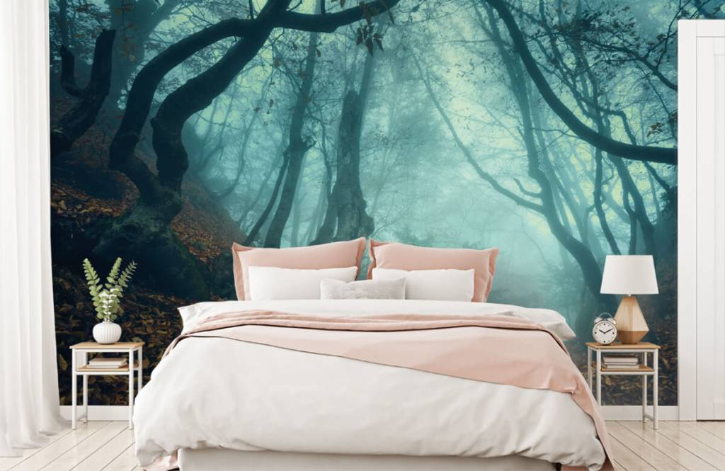 Papier peint de la forêt - Forêt mystérieuse - Chambre à coucher 2
