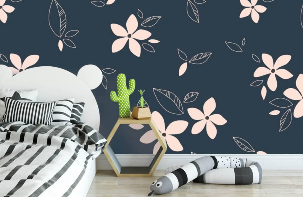 Patterns for Kidsroom - Motif floral rose - Chambre des enfants 3