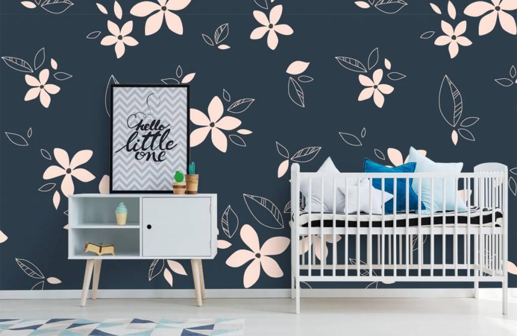 Patterns for Kidsroom - Motif floral rose - Chambre des enfants 6