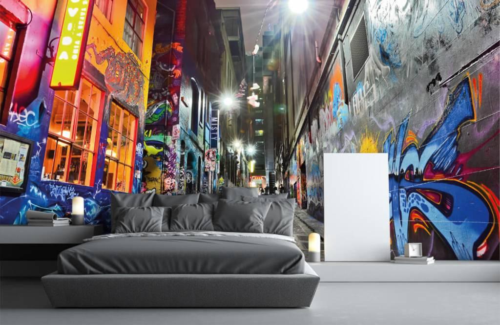 Graffiti - Rue avec graffiti - Chambre d'adolescent 3