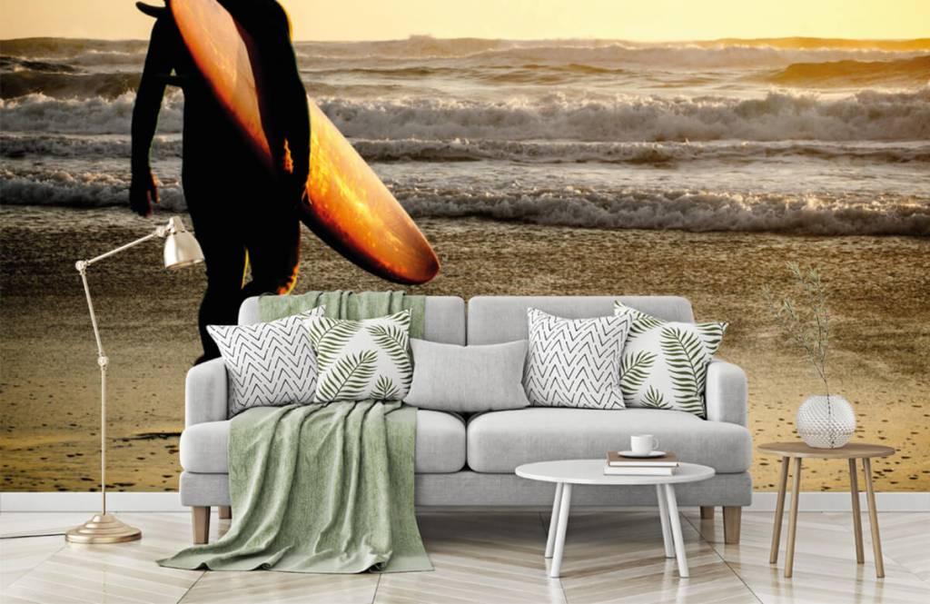 Papier peint de la plage - Surfeur - Chambre d'adolescent 8