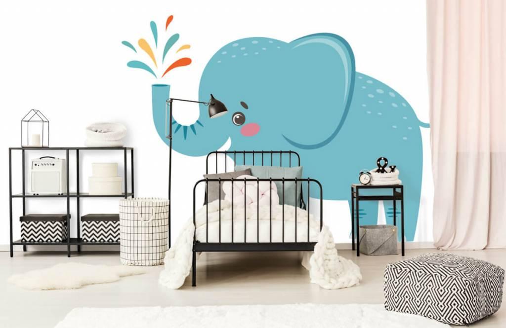 Elephants - Eléphant joyeux - Chambre de bébé 1