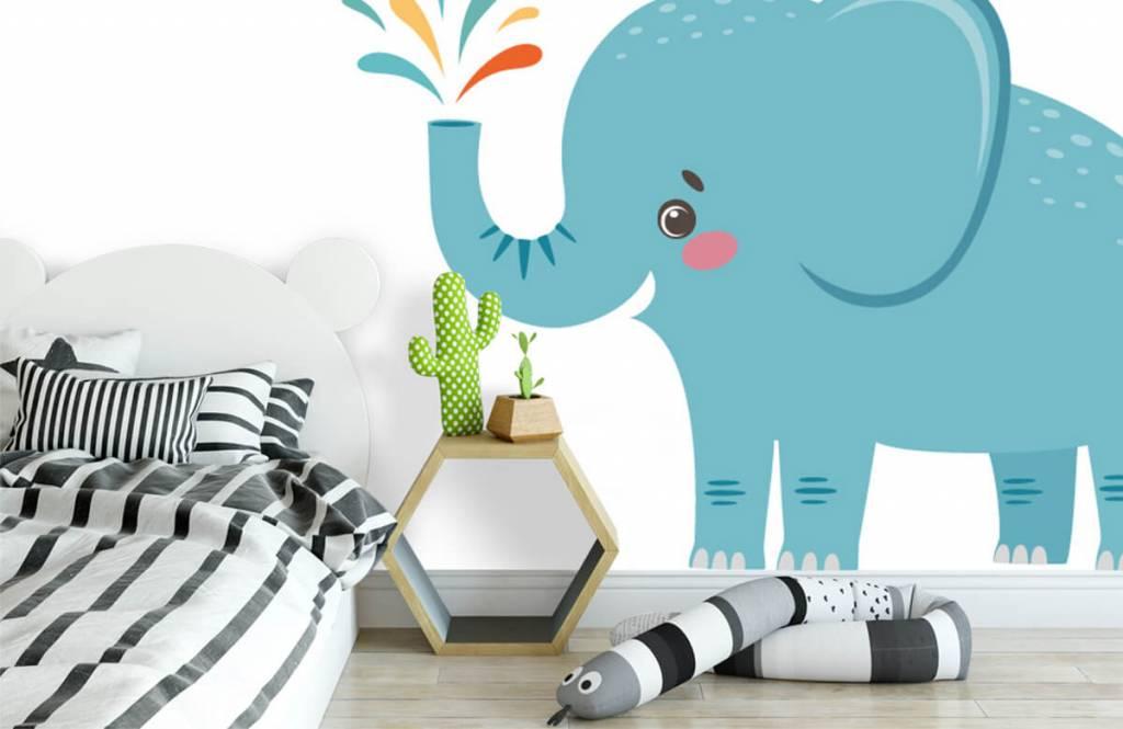 Elephants - Eléphant joyeux - Chambre de bébé 2
