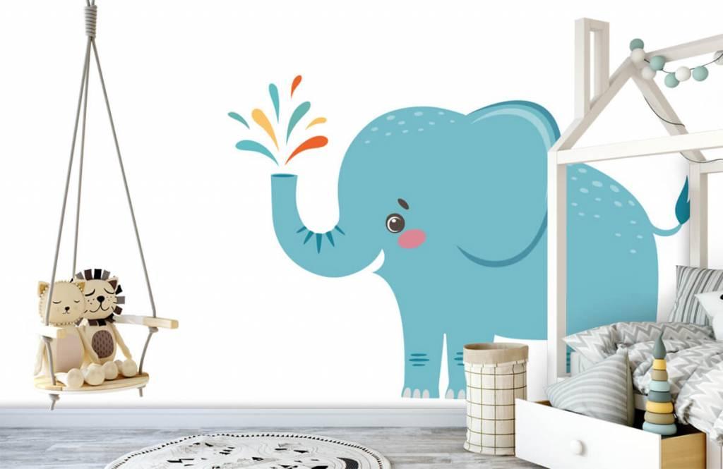 Elephants - Eléphant joyeux - Chambre de bébé 3