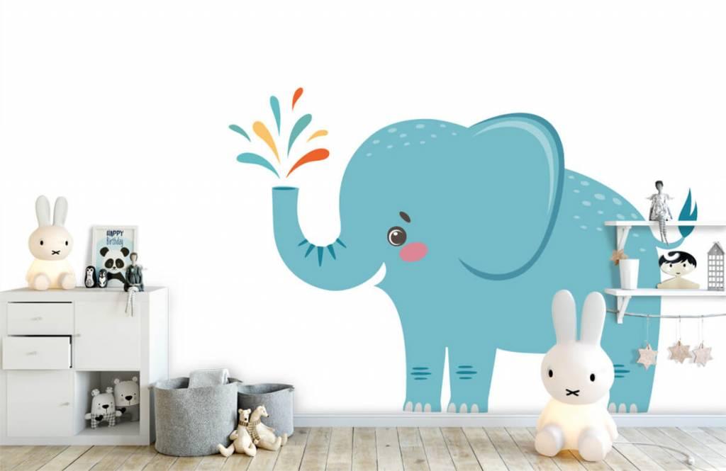 Elephants - Eléphant joyeux - Chambre de bébé 4