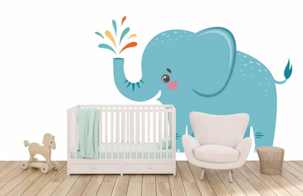 Elephants - Eléphant joyeux - Chambre de bébé 5