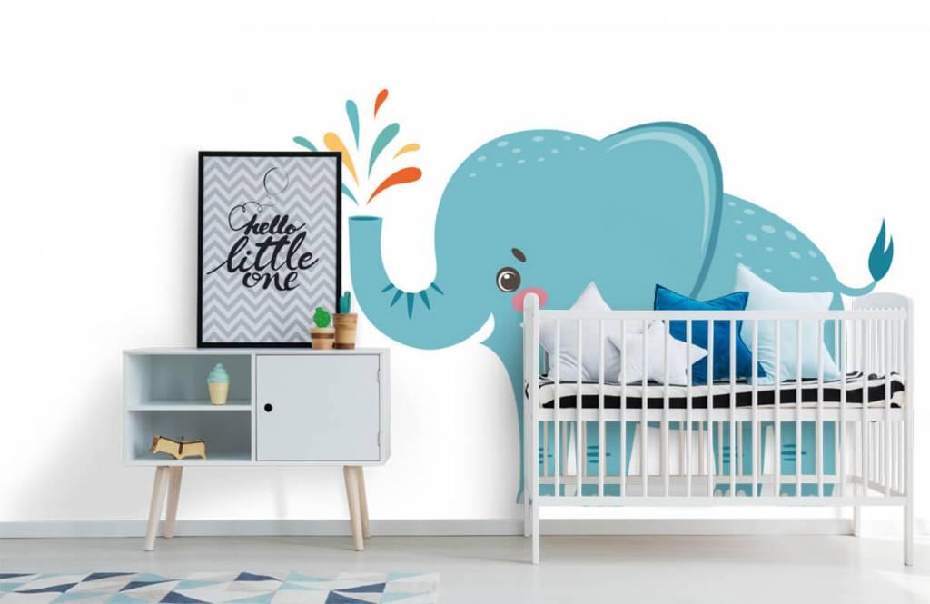 Elephants - Eléphant joyeux - Chambre de bébé 6