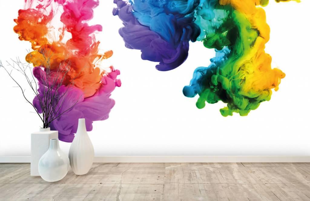 Fond d'écran abstrait - Fumée colorée - Chambre d'hobby 1