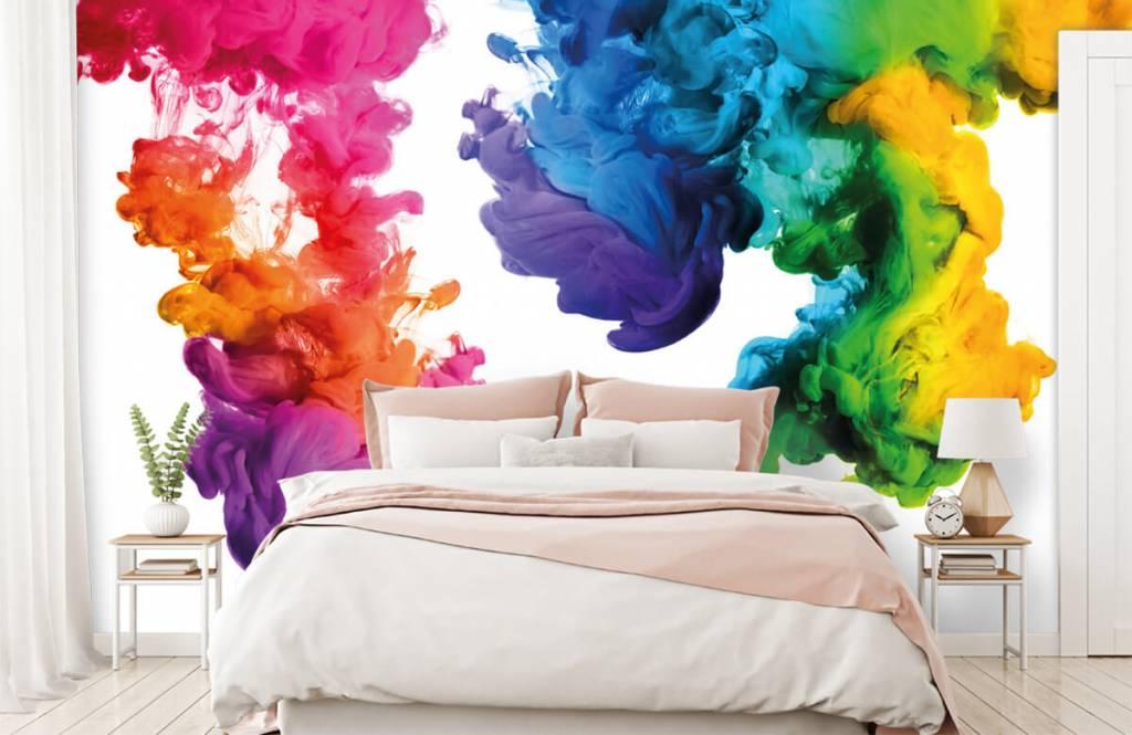 Fond d'écran abstrait - Fumée colorée - Chambre d'hobby 2