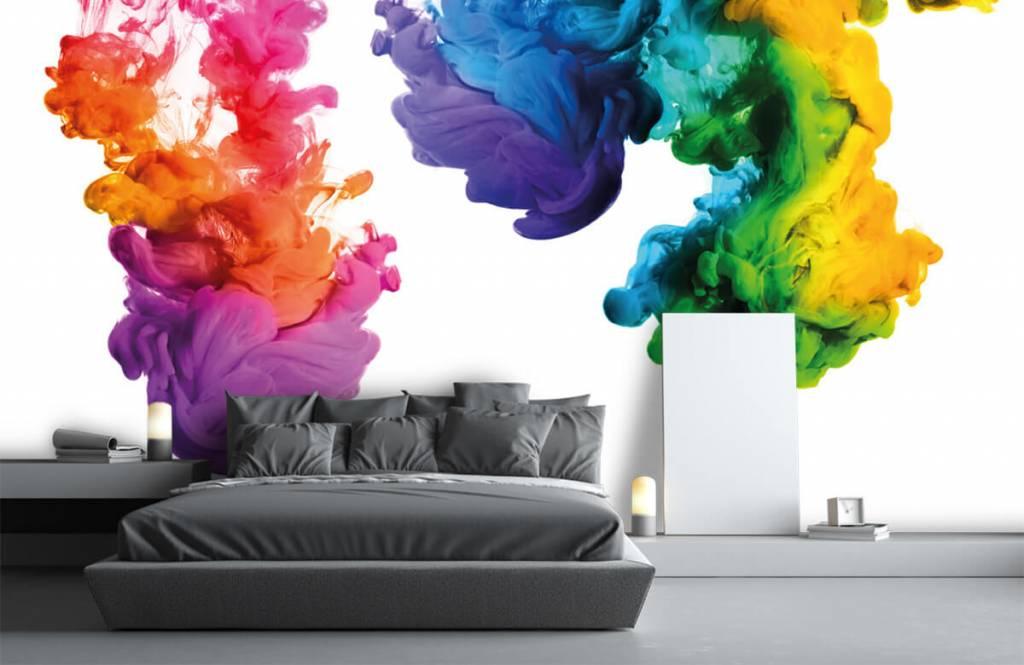 Fond d'écran abstrait - Fumée colorée - Chambre d'hobby 3