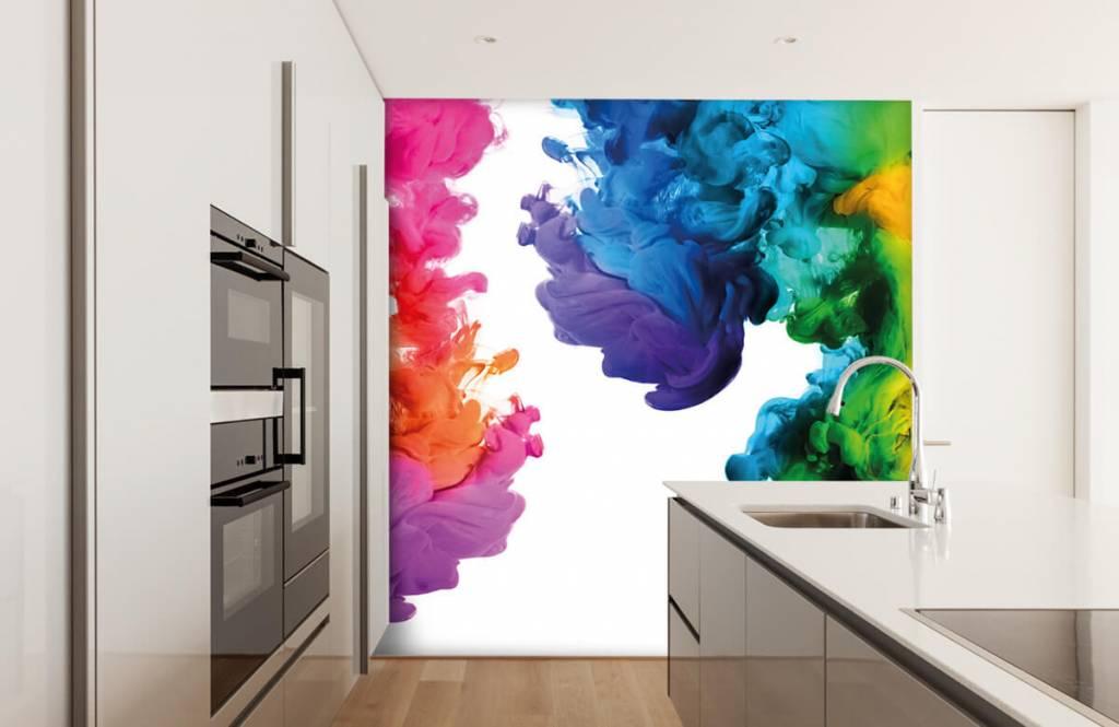 Fond d'écran abstrait - Fumée colorée - Chambre d'hobby 4