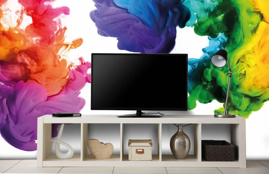Fond d'écran abstrait - Fumée colorée - Chambre d'hobby 5