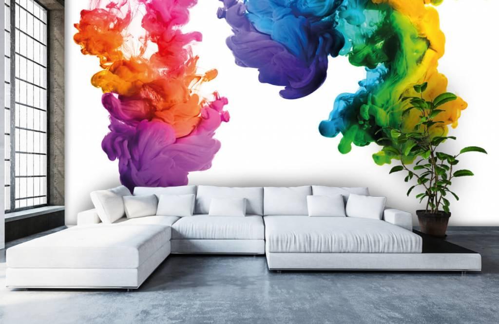 Fond d'écran abstrait - Fumée colorée - Chambre d'hobby 6