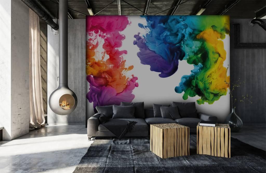 Fond d'écran abstrait - Fumée colorée - Chambre d'hobby 7