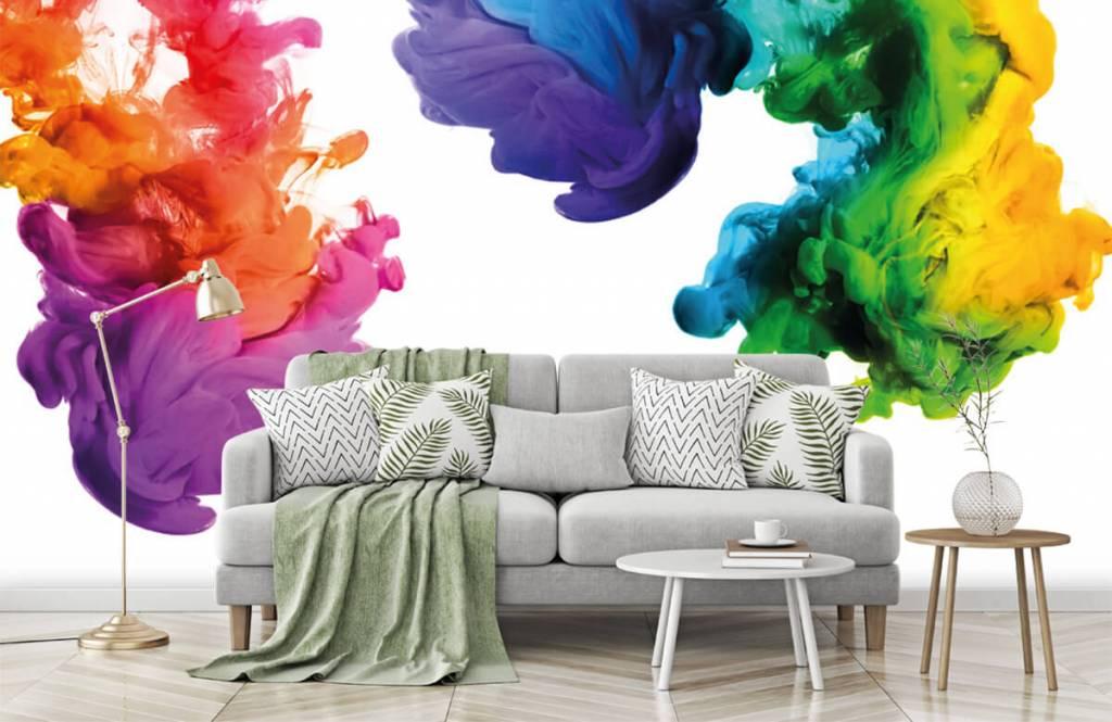 Fond d'écran abstrait - Fumée colorée - Chambre d'hobby 8