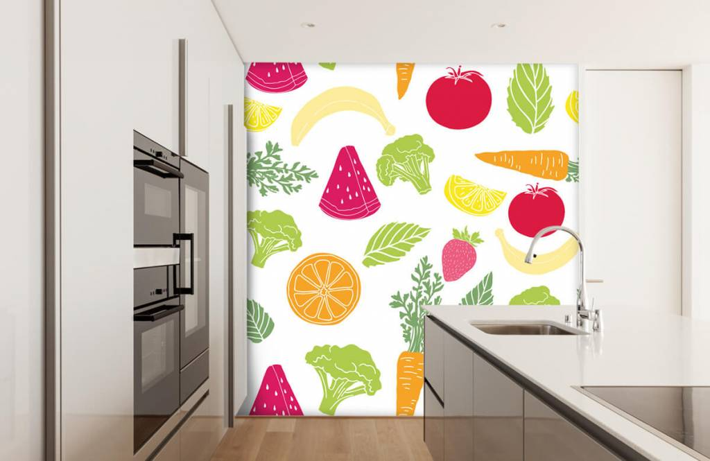 Other - Getekend groente en fruit - Cuisine 1