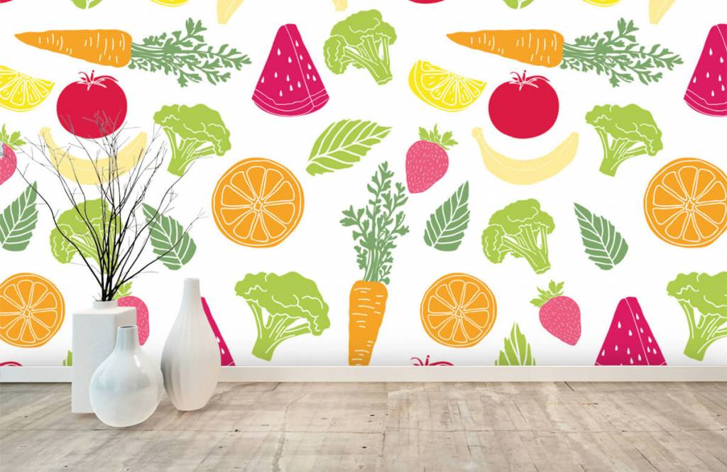 Other - Getekend groente en fruit - Cuisine 6