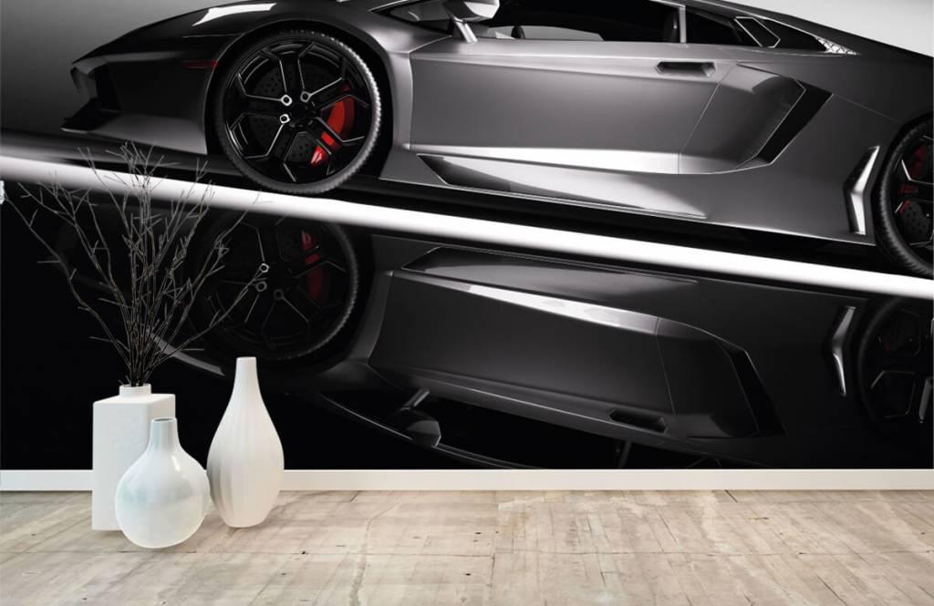 Transportation - Lamborghini grise - Chambre d'adolescent 1