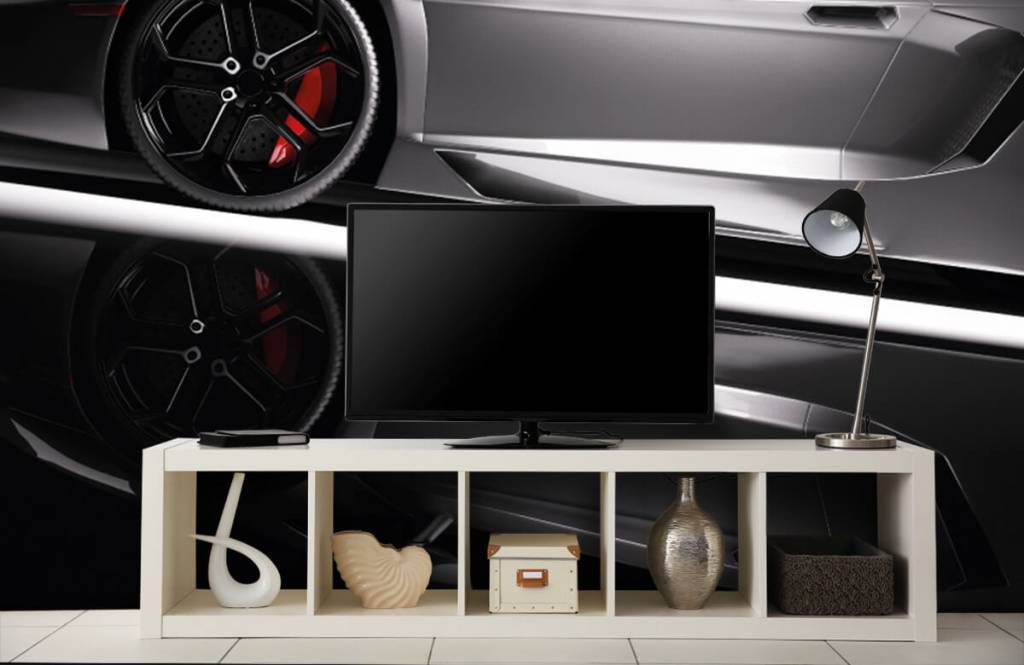 Transportation - Lamborghini grise - Chambre d'adolescent 2