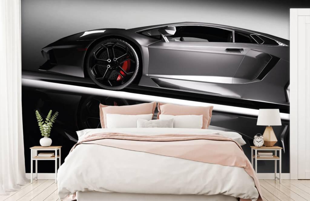Transportation - Lamborghini grise - Chambre d'adolescent 3