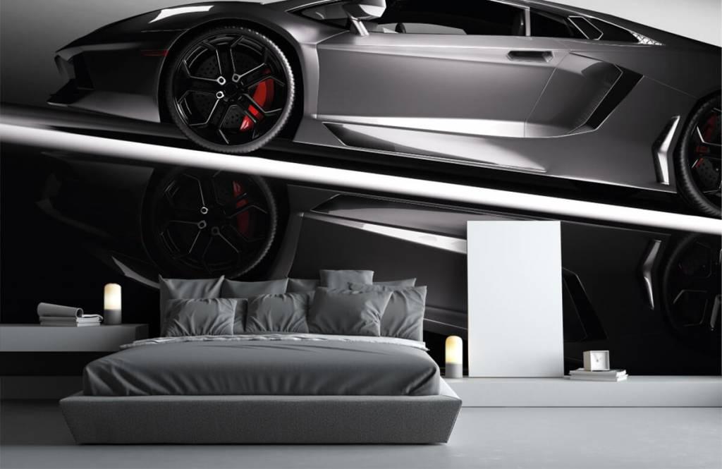 Transportation - Lamborghini grise - Chambre d'adolescent 4
