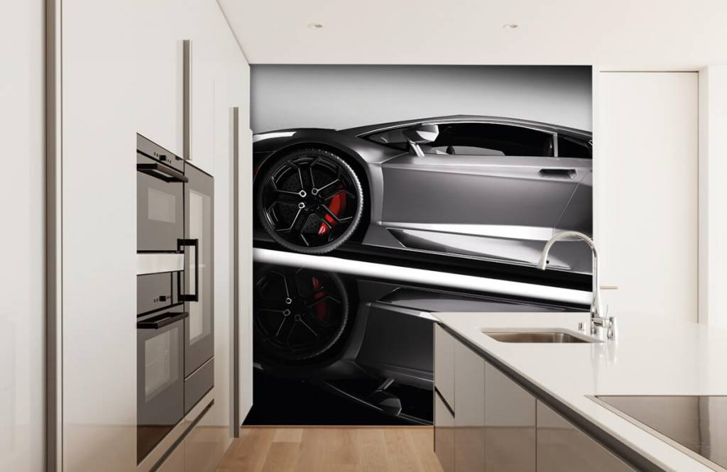 Transportation - Lamborghini grise - Chambre d'adolescent 5