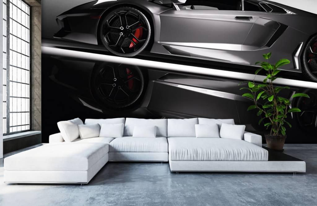 Transportation - Lamborghini grise - Chambre d'adolescent 6