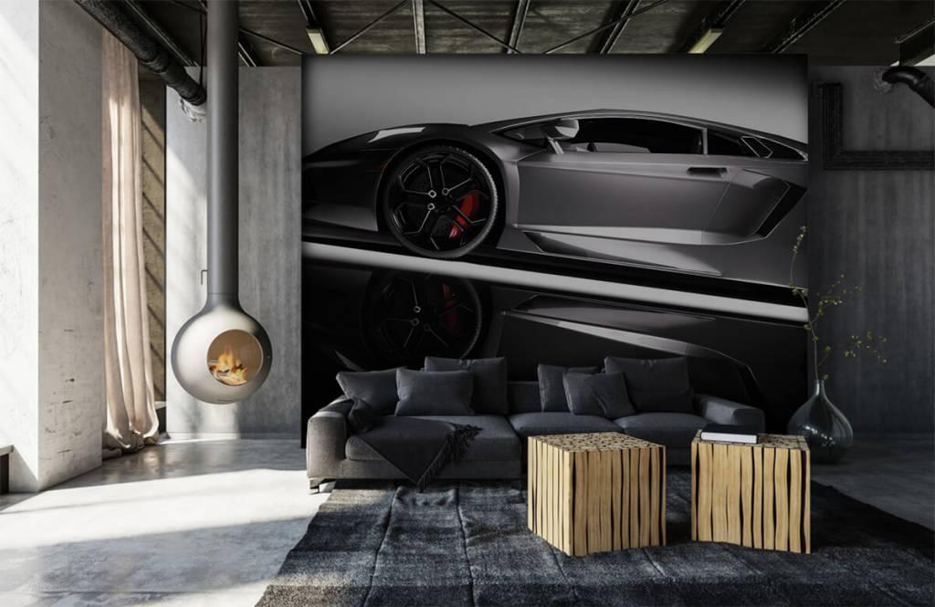 Transportation - Lamborghini grise - Chambre d'adolescent 7