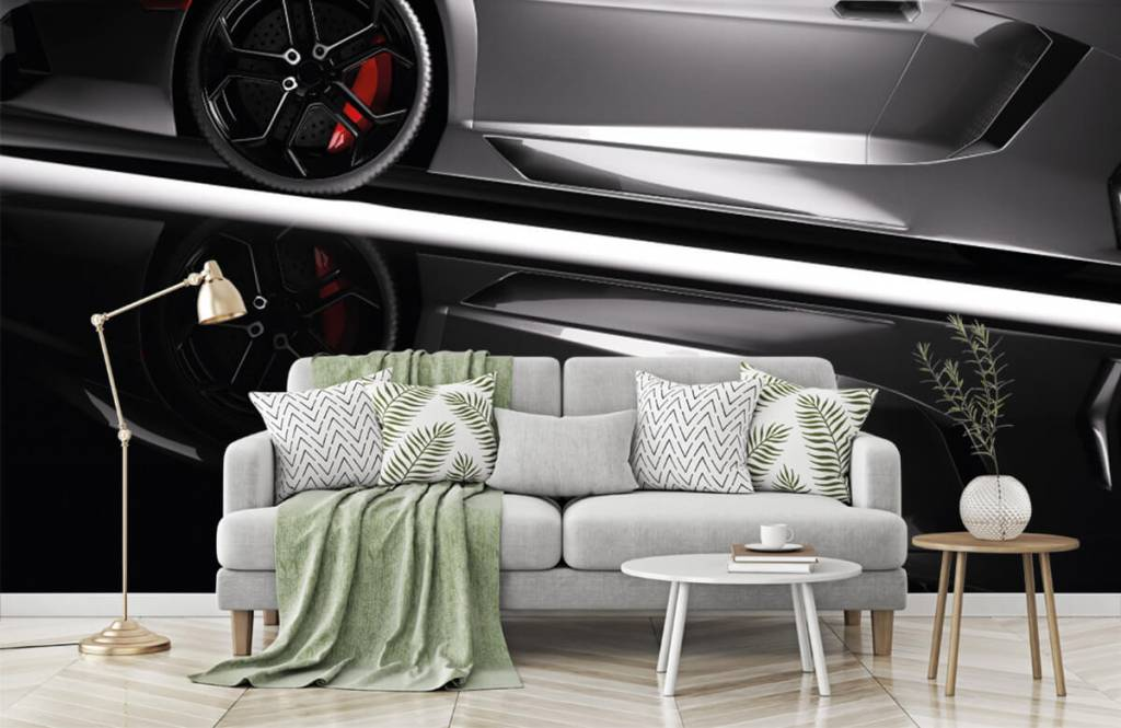 Transportation - Lamborghini grise - Chambre d'adolescent 8