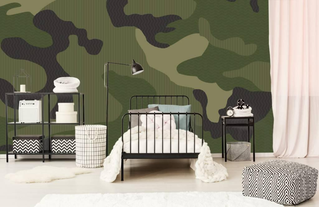Papier peint enfants - Camouflage vert - Chambre des enfants 1