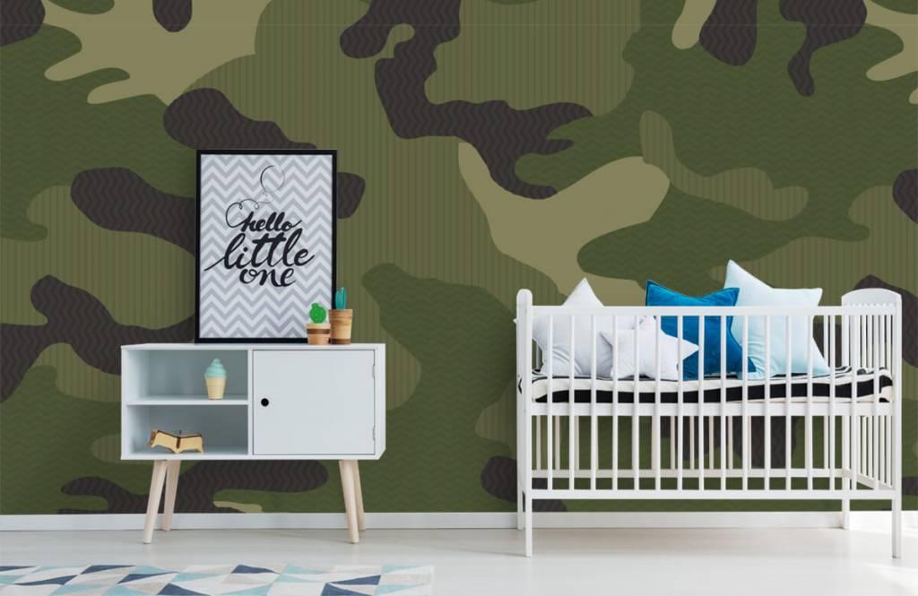 Papier peint enfants - Camouflage vert - Chambre des enfants 2