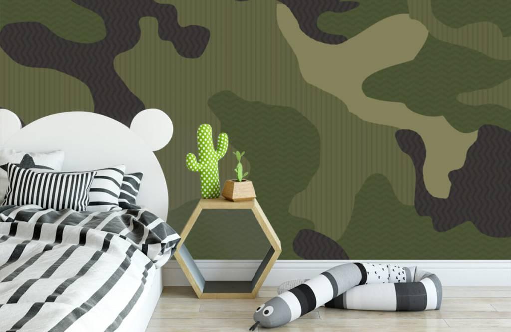 Papier peint enfants - Camouflage vert - Chambre des enfants 3