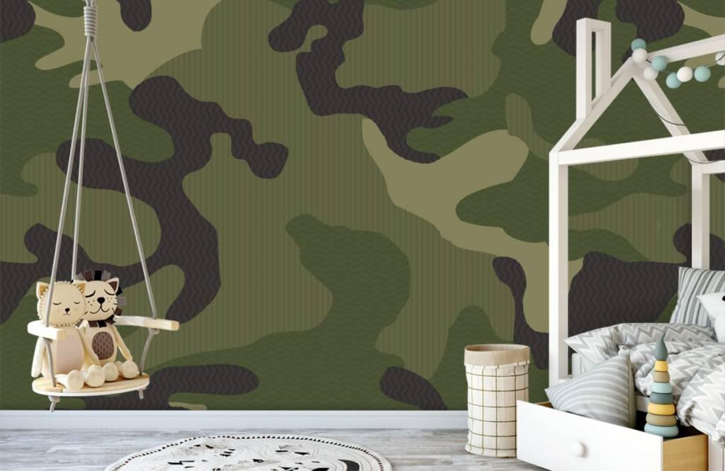 Papier peint enfants - Camouflage vert - Chambre des enfants 4
