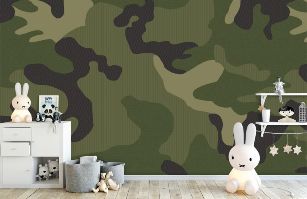 Papier peint enfants - Camouflage vert - Chambre des enfants 5